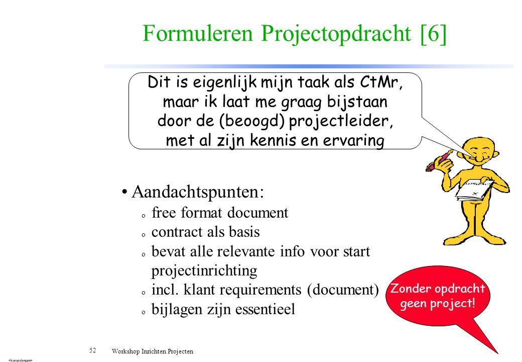 Formuleren Projectopdracht [6]